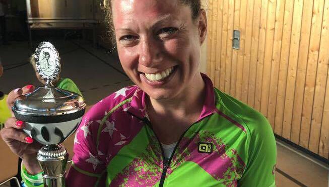 Karoline Scheel beim 1. Radmarathon RÖHN 300
