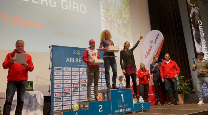 Karoline Scheel fährt beim 10. Arlberg Giro auf den 2. Platz